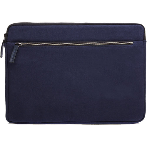 """Cecilia Gallery Waxed Cotton Sleeve for 13"""" MacBook Pro (Midnight)"""