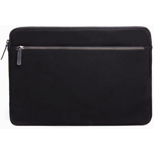"Cecilia Gallery Waxed Cotton Sleeve for 15"" MacBook Pro (Black)"