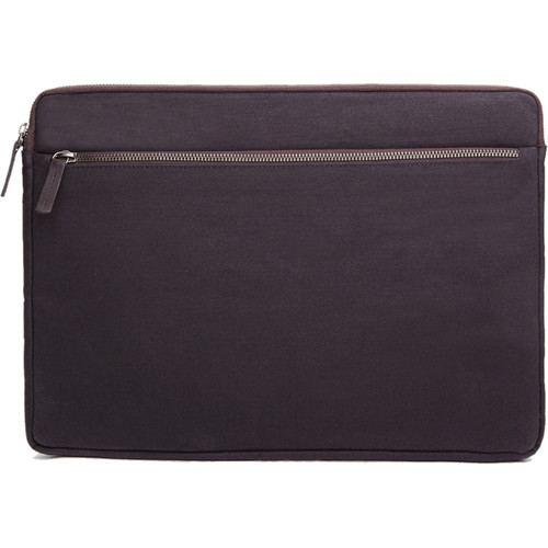 "Cecilia Gallery Waxed Cotton Sleeve for 15"" MacBook Pro (Espresso)"