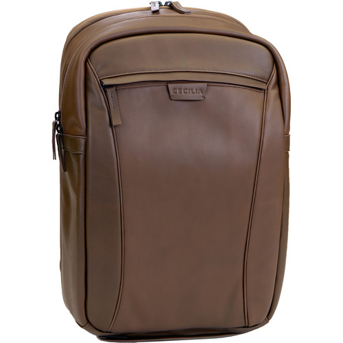"""Cecilia Gallery Mercator 16L Camera and 15"""" Laptop Backpack (Chestnut, Leather)"""