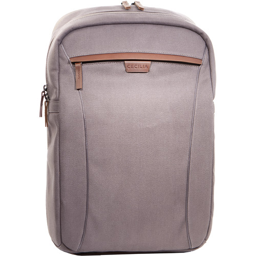 """Cecilia Gallery Mercator 16L Camera and 15"""" Laptop Backpack (Charcoal, Cotton Canvas)"""
