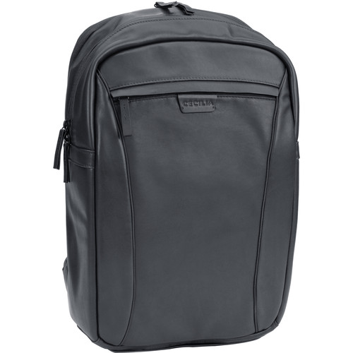 """Cecilia Gallery Humboldt 14L Camera and 13"""" Laptop Backpack (Black, Leather)"""