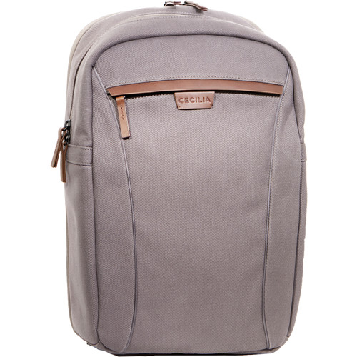 """Cecilia Gallery Humboldt 14L Camera and 13"""" Laptop Backpack (Charcoal, Cotton Canvas)"""