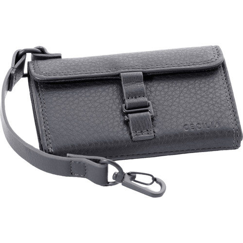 Cecilia Gallery SD Memory Card Wallet (Black Leather)