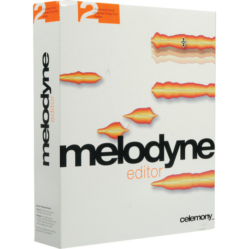 Celemony Melodyne Editor 2.0 - Polyphonic Pitch Shifting/Time Stretching (Add 1 License)