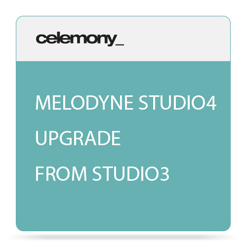 Celemony Melodyne 4 Studio (Upgrade from Studio 3) Polyphonic Pitch Shifting/Time Stretching Software (Download)