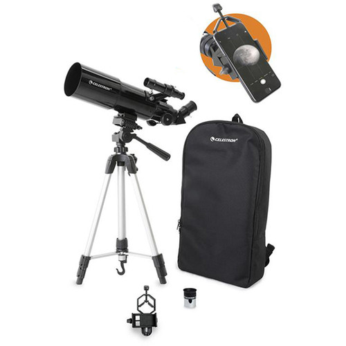 Celestron Travel Scope 80mm f/5 AZ Refractor Telescope Kit