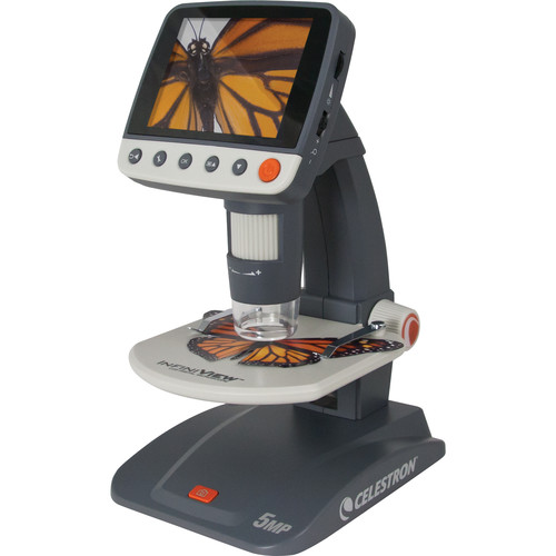 Celestron 44360 Infiniview LCD Digital Cordless Microscope (110 V, Gray)