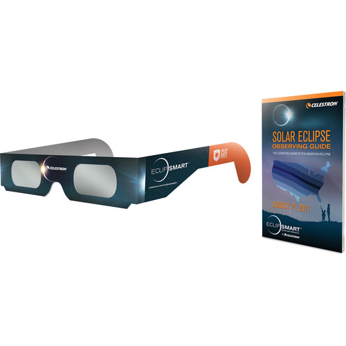 Celestron EclipSMART Solar Shades Paper Solar Viewing Glasses (4-Pack)