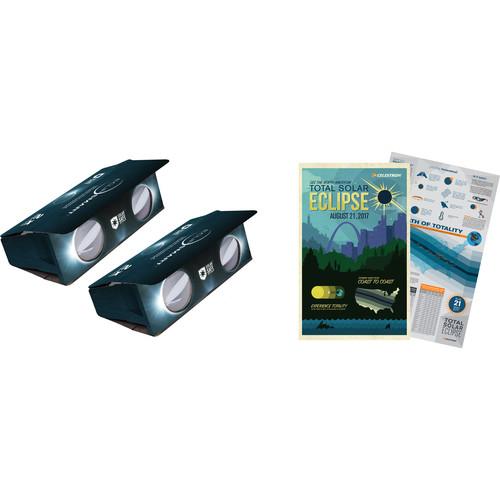 Celestron 2x EclipSmart Solar Observing Binoculars (2-Pack)