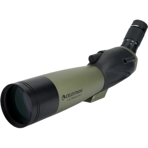 Celestron Ultima 80 20-60x80mm Spotting Scope and Smartphone Adapter Kit (Angled Viewing)