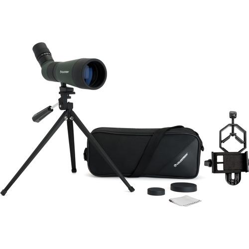 Celestron LandScout 12-36x60 Spotting Scope Digiscope Kit (Angled Viewing)