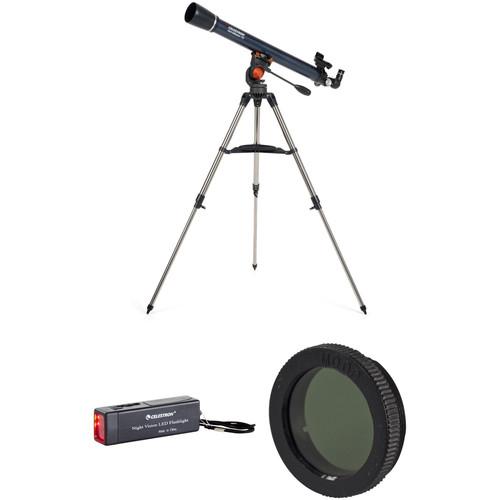 Celestron AstroMaster 70AZ 70mm f/13 Alt-Az Refractor Telescope Moon Observer Kit