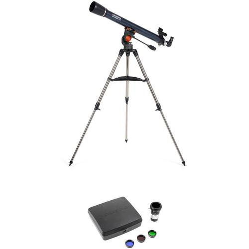 Celestron AstroMaster 70AZ 70mm f/13 Alt-Az Refractor Telescope with Mars Observing Kit