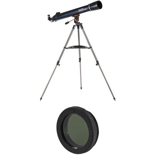 Celestron AstroMaster LT 80AZ 80mm f/11 Alt-Az Refractor Planetary Observing Kit