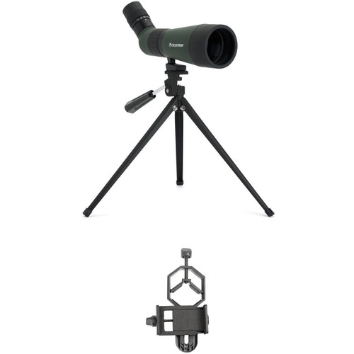 Celestron LandScout 12-36x60 Spotting Scope and Smartphone Adapter Kit (Angled Viewing)
