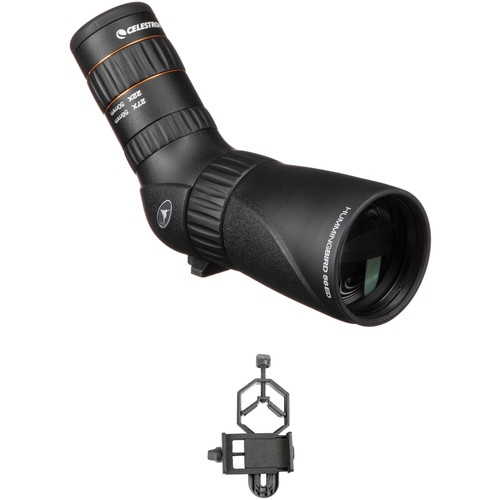 Celestron Hummingbird 9-27x56 ED Micro Spotting Scope and Smartphone Adapter Kit (Angled Viewing)