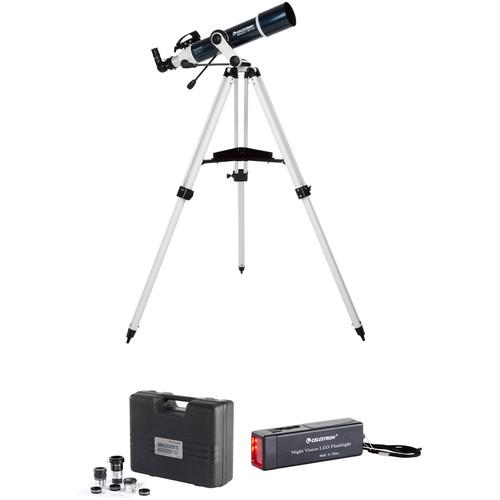 Celestron Omni XLT AZ 102mm f/6.5 Refractor Telescope Observers Kit
