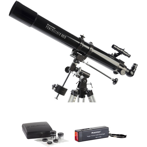 Celestron PowerSeeker 80mm f/11 EQ Refractor Telescope and Accessory Kit