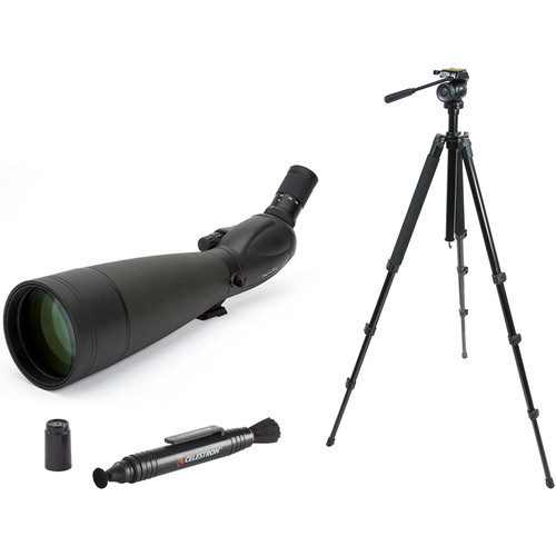 Celestron TrailSeeker 100 22-67x100 Spotting Scope Kit (Angled Viewing)