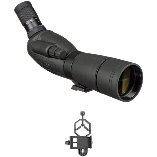 Celestron TrailSeeker 65 16-48x65 Spotting Scope and Smartphone Adapter Kit (Angled Viewing)