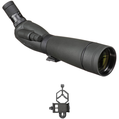 Celestron TrailSeeker 80 20-60x80 Spotting Scope and Smartphone Adapter Kit (Angled Viewing)