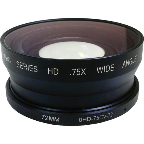 Century Precision Optics 0.75X HD Wide Angle Converter for Lenses with 72mm Front Thread