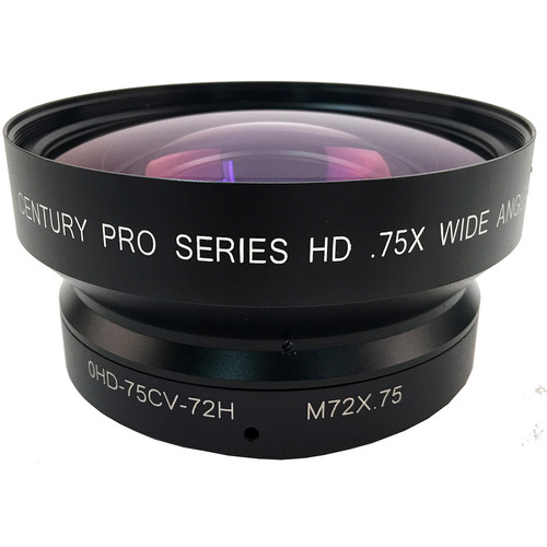Century Precision Optics 0.75x HD Wide Angle Converter High-Resolution, 72mm Thread