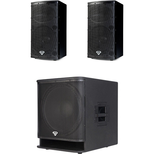 Cerwin-Vega P2.1 Tour Set with Two P1000X Powered Speakers and One P1800SX Powered Subwoofer