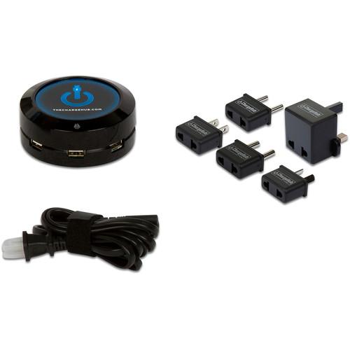 ChargeHub X3 3-Port USB SuperCharger International Travel Pack (Black)