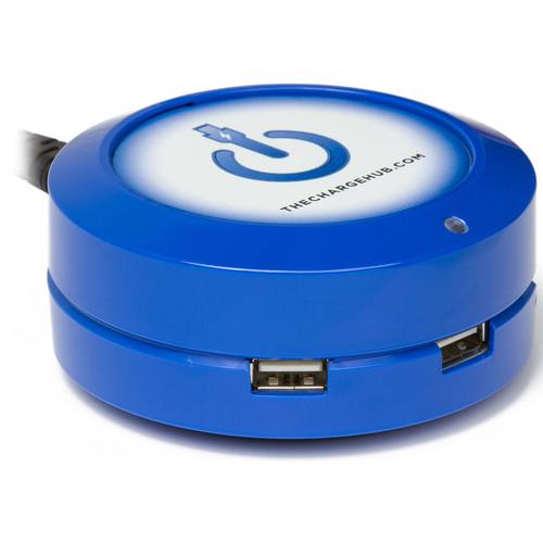 ChargeHub X3 3-Port Round USB Charging Station (Blue)