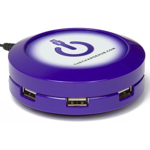 ChargeHub X3 3-Port Round USB Charging Station (Purple)