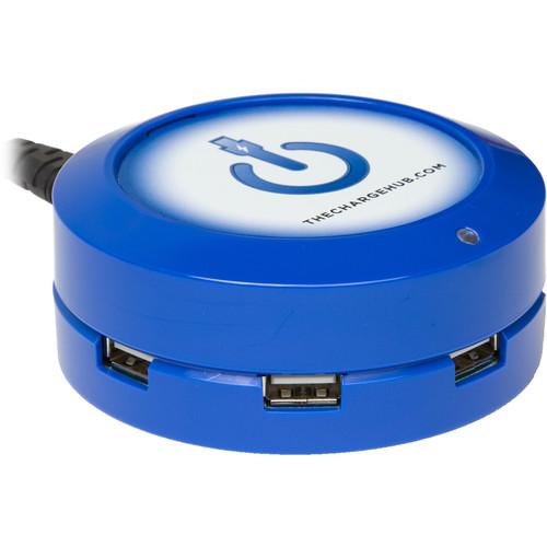 ChargeHub X5 5-Port Round USB Charging Station (Blue)
