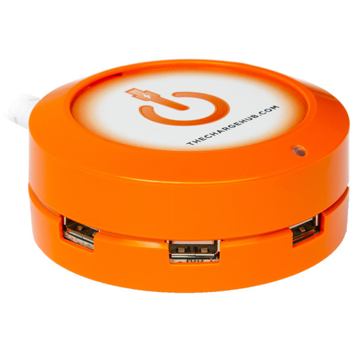 ChargeHub X5 5-Port Round USB Charging Station (Orange)