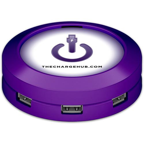 ChargeHub X7 7-Port Round USB Charging Station (Purple)