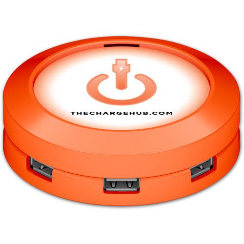 ChargeHub X7 7-Port Round USB Charging Station (Orange)