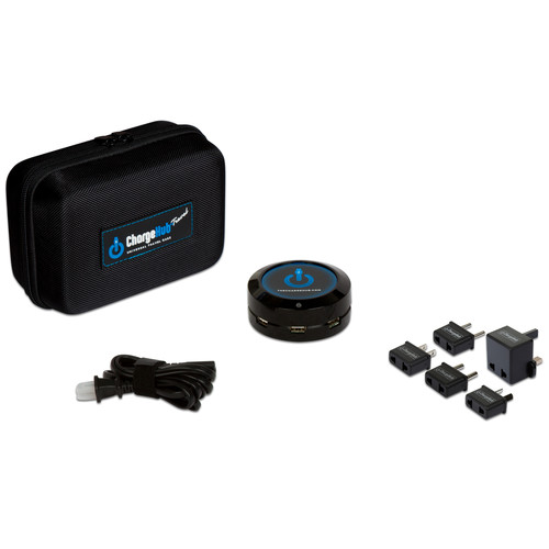 ChargeHub X3 3-Port USB Supercharger International Travel Pack (Black)