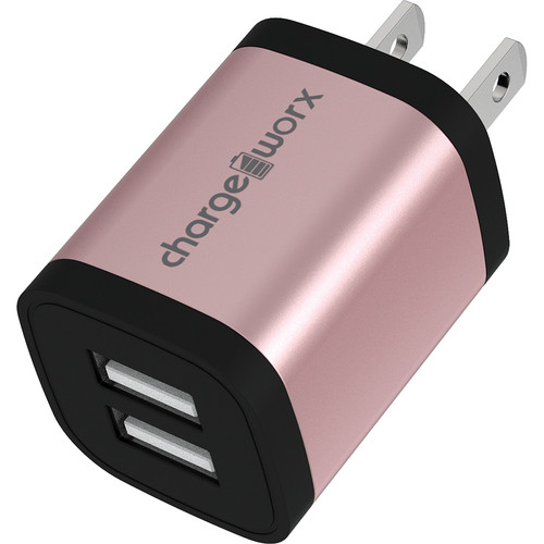 ChargeWorx 2.4A Dual USB Wall Charger (Rose Gold)