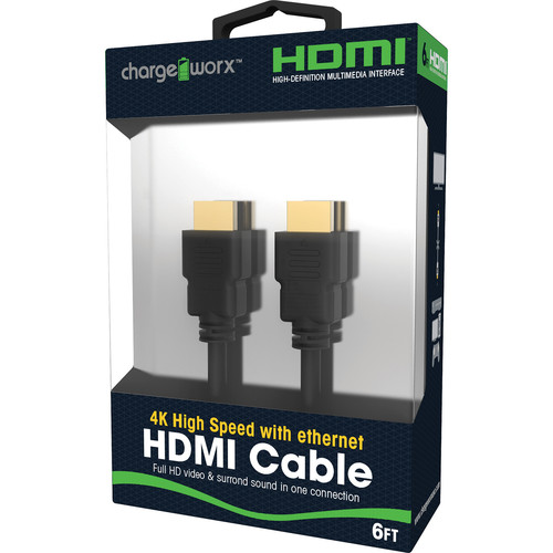 ChargeWorx High-Speed HDMI Cable with Ethernet and 4K Support (6')