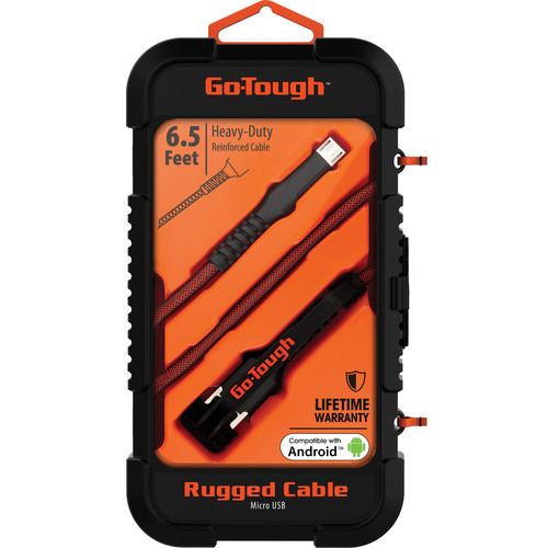 ChargeWorx Go Tough Rugged Micro-USB Cable (6.5', Black/Orange)