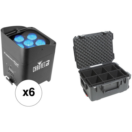 CHAUVET DJ Freedom Par Tri-6 - 6-Light Kit with SKB Case