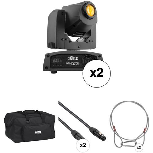 CHAUVET DJ Dual Intimidator Spot 155 LED Moving Head Light Kit