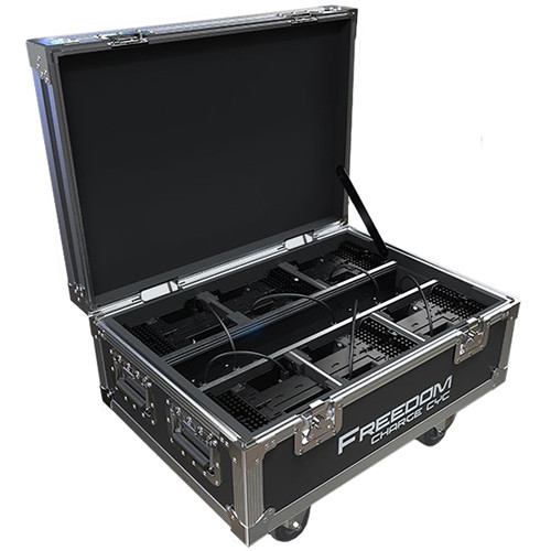 CHAUVET DJ Freedom Charge Cyc Wheeled Road Case for 6 Fixtures (Black)