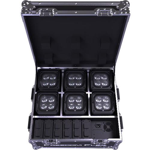 CHAUVET DJ Freedom Flex H4 IP X6 : 6-X6 Units, X6 Batteries, Charging Case, IRC-6