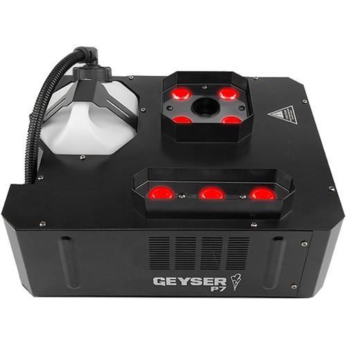 CHAUVET DJ Geyser P7 RGBA+UV LED Pyrotechnic-Like Effect Fog Machine