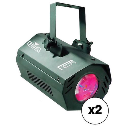 CHAUVET DJ LX5 LED Moonflower Effect Light 2-Pack Kit