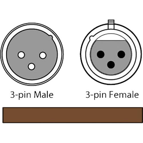 CHAUVET 3-Pin DMX Cable (Black, 50')