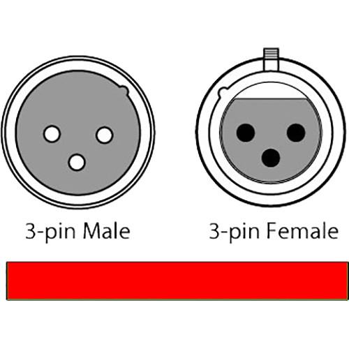 CHAUVET DJ 3-Pin DMX Cable (Black, 5')