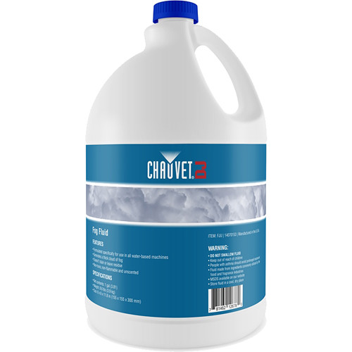 CHAUVET DJ Fog Juice for Water-Based Fog Machines (1 Gallon)