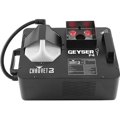 CHAUVET DJ Geyser P4 - RGBA+UV LED Pyrotechnic-Like Effect Fog Machine